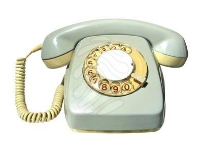 telefone antigo branco
